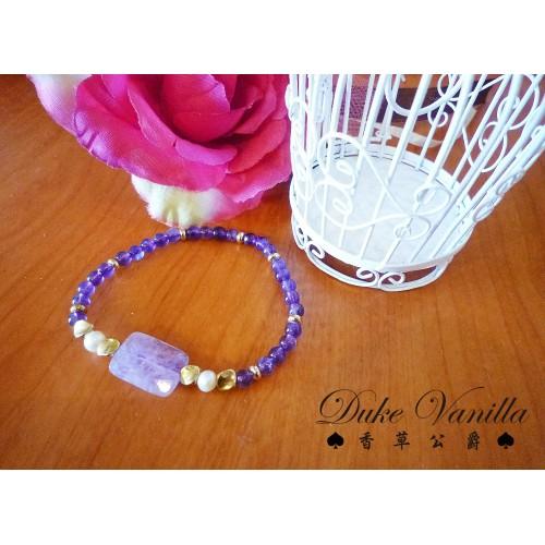 紫水晶長方型主珠手環