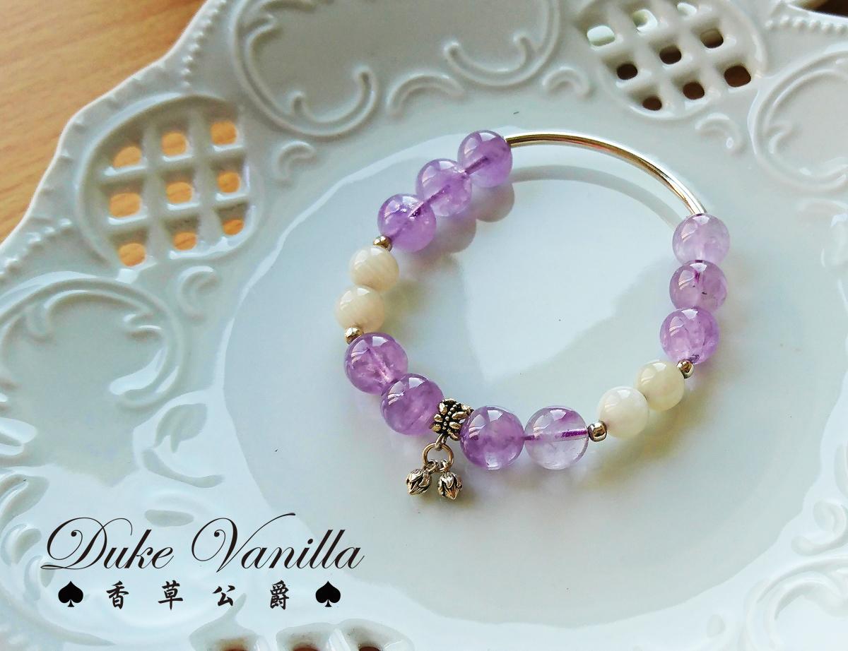 紫羅蘭紫晶 月光石純銀手環 - Duke Vanilla 香草公爵