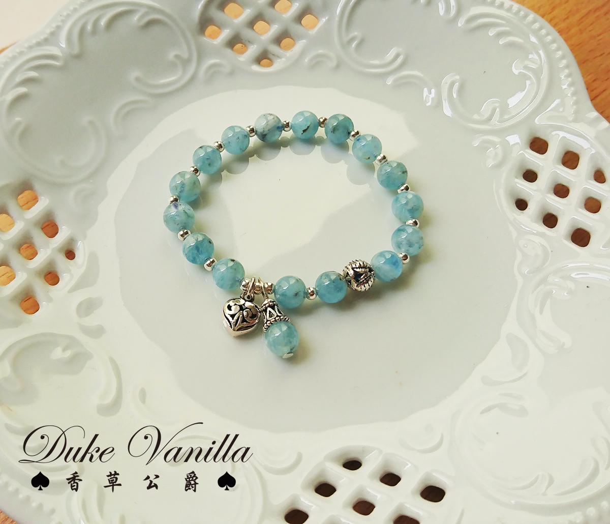 人魚公主的嘆息*海水藍寶 925純銀手環 - Duke Vanilla 香草公爵