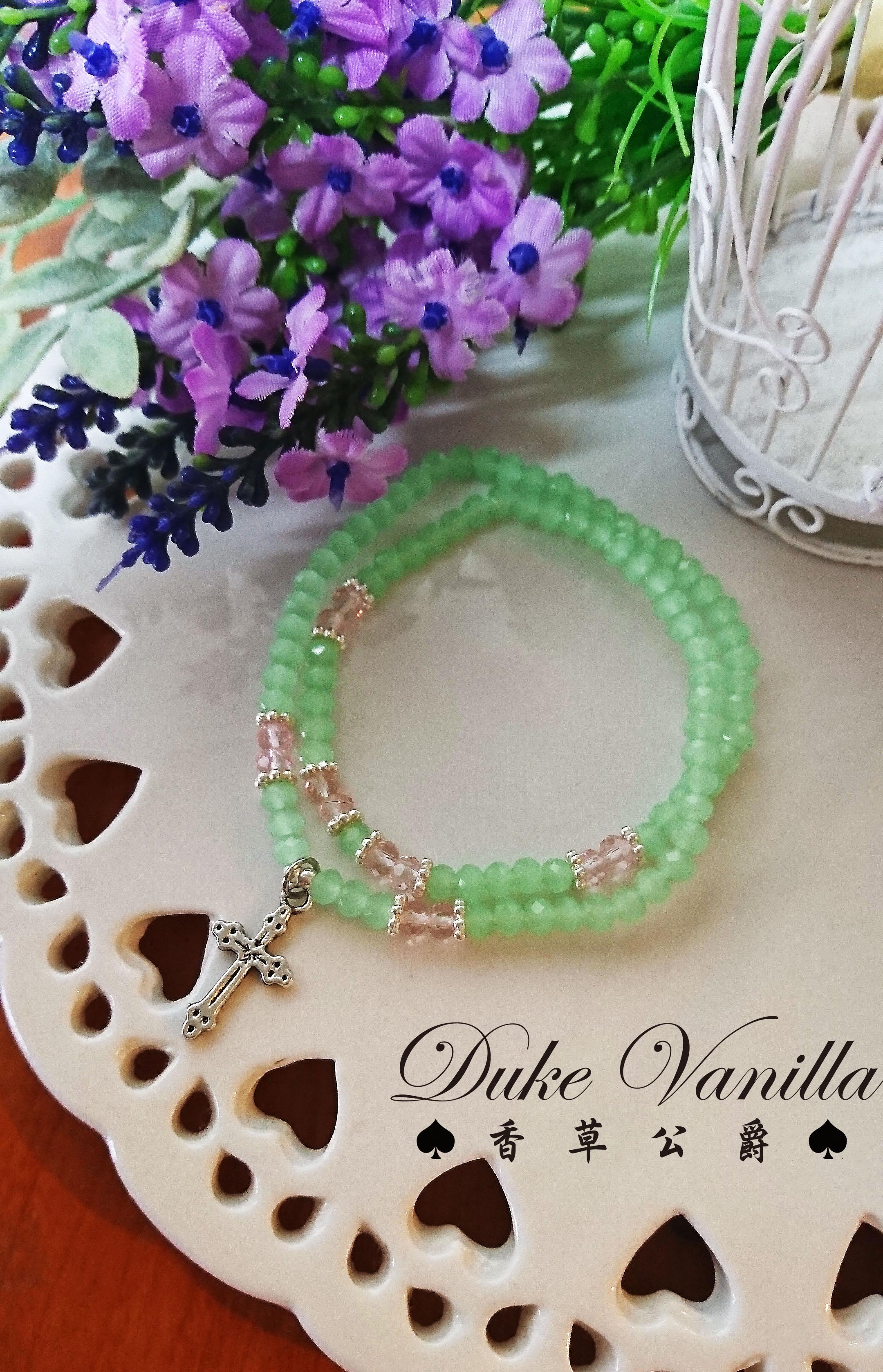 最長的一日*嫩綠彩珠雙圈手環 - Duke Vanilla 香草公爵