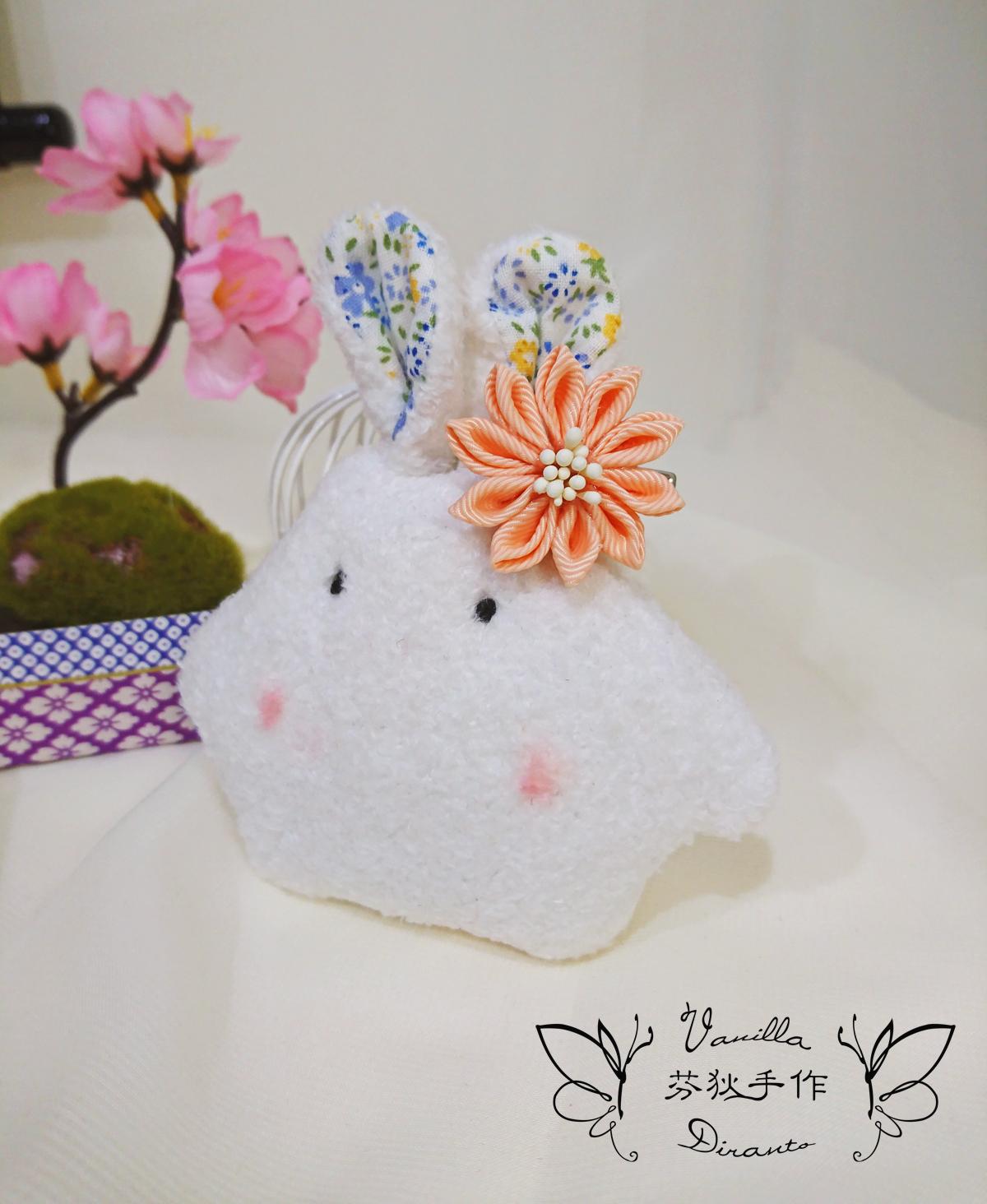 日式和風花髮飾 髮夾 雪芽色 - Duke Vanilla 香草公爵